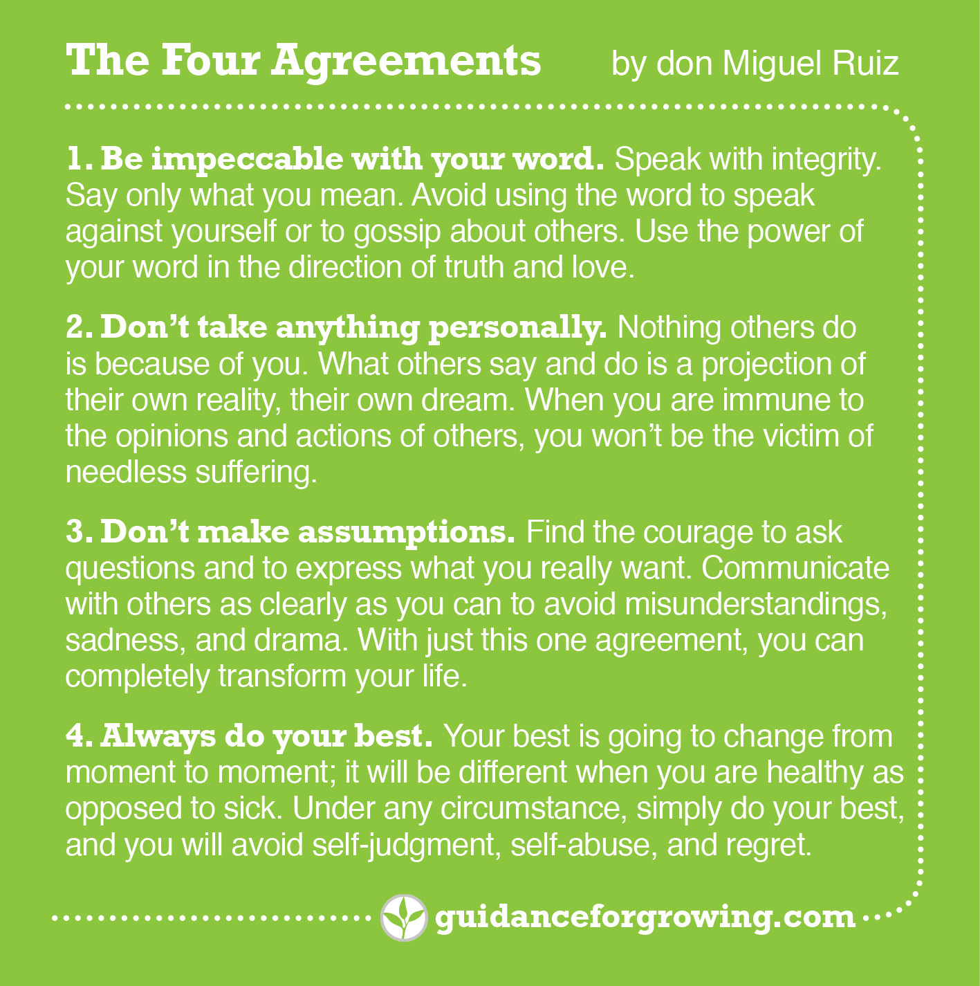 Four Agreements Digital Science VJH