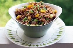 Asian bulgur edamame salad