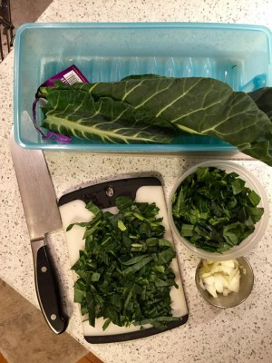 quick breakfast greens
